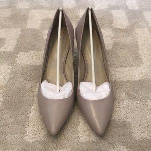 Calvin heels, cement gray, never worn